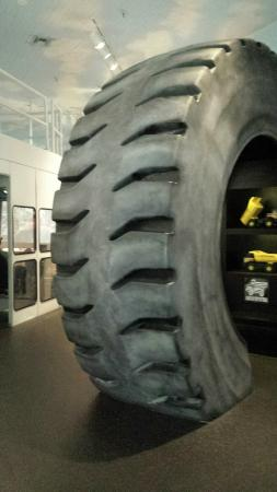 Bisbee Mining & Historical Museum : The life sized tire exhibit
