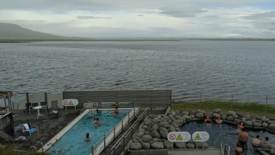 The Swimming Pool And A Hot Tub You Can Also Walk Down To The Lake Behind Picture Of