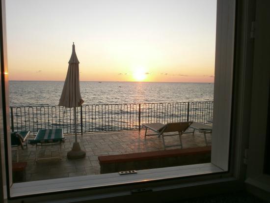 La Citarea: tramonto dalla nostra camera
