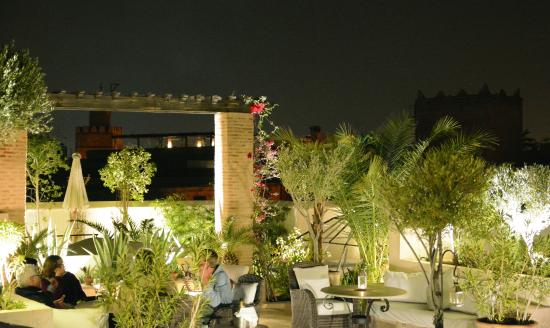 Riad Camilia: Outdoor rooftop relaxing area...