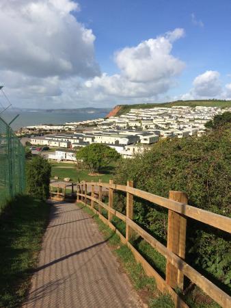 Devon Cliffs Holiday Park - Haven: Walk down to the sea