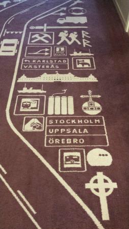 Scandic Uppsala North: La moquette