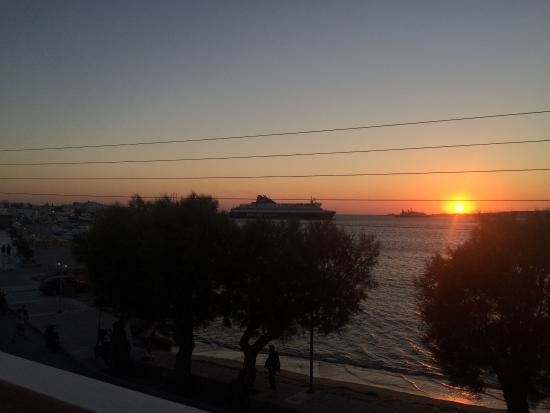 Hotel Paros: Nice sunset