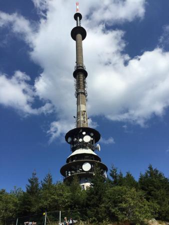 Warmensteinach, Deutschland: Funkturm am Ochsenkopf 190 Meter hoch