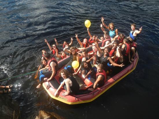 Vest-Agder, Noruega: Rafting : photo du groupe