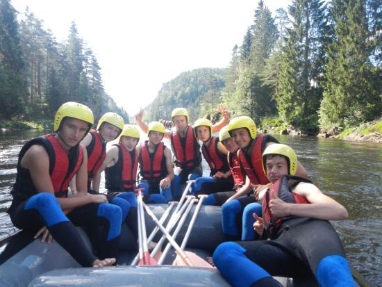 Vest-Agder, Noruega: Rafting : photo de la meilleure équipe (la mienne)