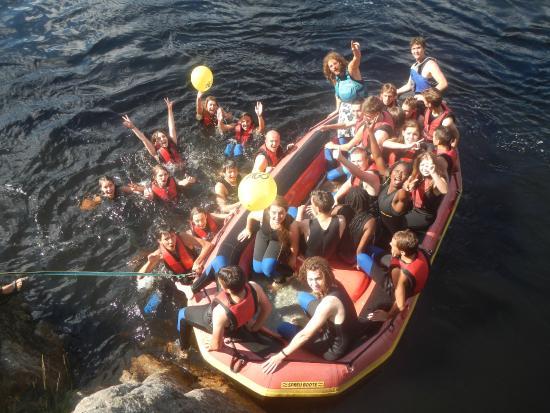Vest-Agder, Noruega: Rafting : photo de groupe 2