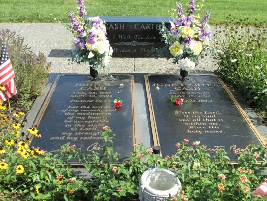 Johnny and June's gravesite, Hendersonville Memorial Gardens