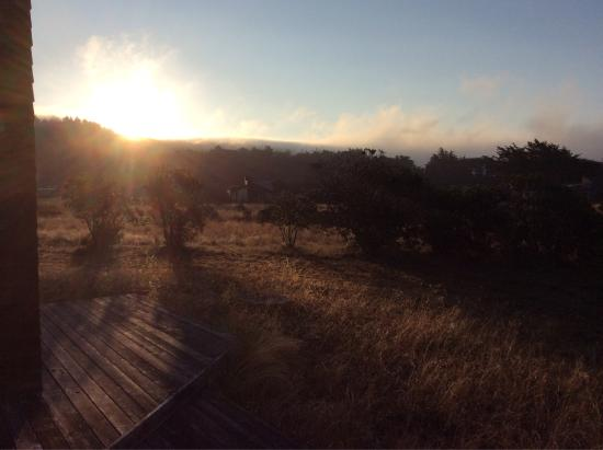 Gualala, Californie : The bluff trail at sunset