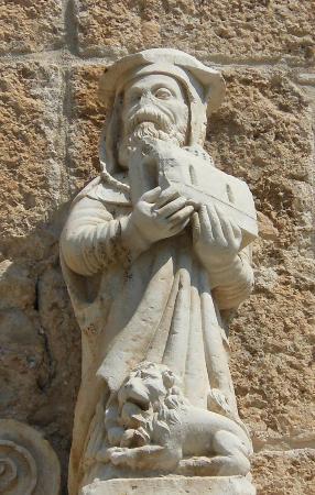 Chiesa di Santa Maria delle Grazie: facciata - san gerolamo