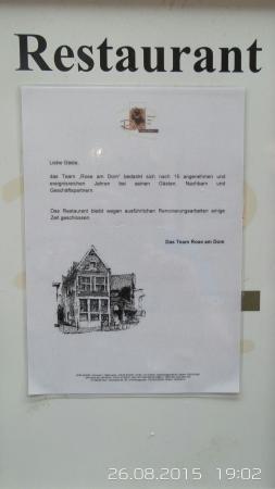Rose am Dom: Gasthaus Rose bleibt länger geschlossen