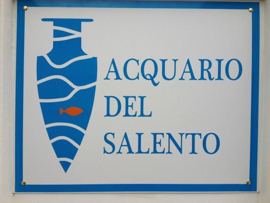 insegna dell\'acquario - Foto di Acquario del Salento, Santa Maria ...