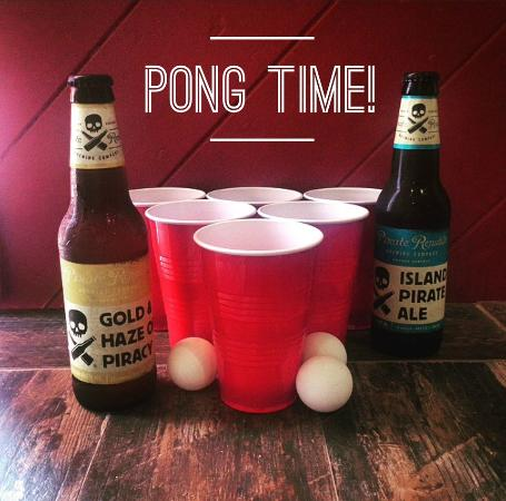 Pirate Republic Brewing: Play beer pong anytime - ask bartenders for details!