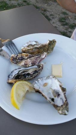 Lestiac-Sur-Garonne, Frankreich: Les huîtres du menu à 27€