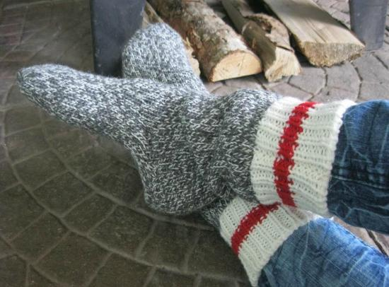 Mayfield, Canada: Cozy socks