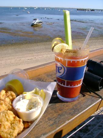 Provincetown, MA: Fried Clams & a Bloody Mary just off Commercial Road, P'town.