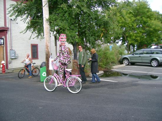 Provincetown, MA: Draq Queen Cyclist on Commercial Road, P'town.