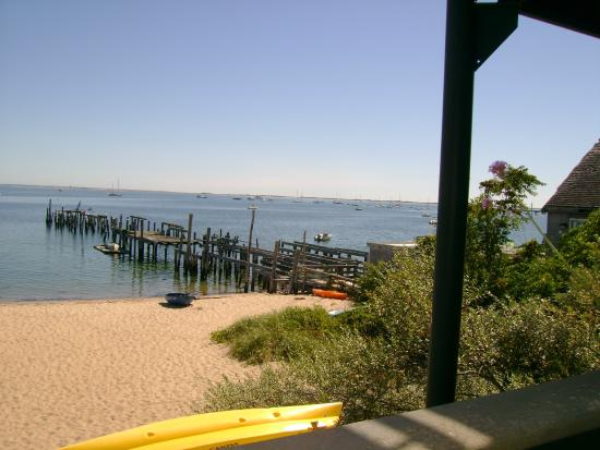 Provincetown, MA: P'town Harbor from restaurant on Commercial Road, P'town.