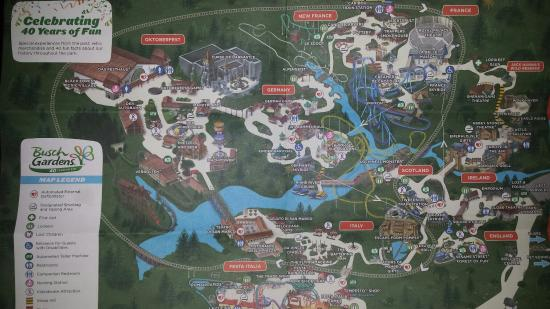 Map with Stairs Shown - Picture of Busch Gardens Williamsburg ...