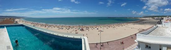 Apartamentos Playa Barbate : Panoramica de la Playa del Carmen desde el ático