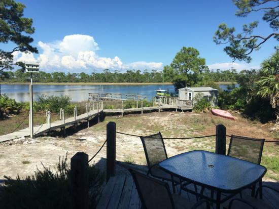 Cape San Blas Inn : The dock/back yard