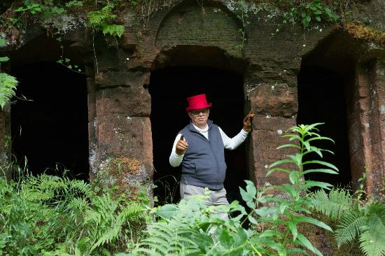 Ochiltree, UK: The grounds are full of caves and grottos: your task is to find them