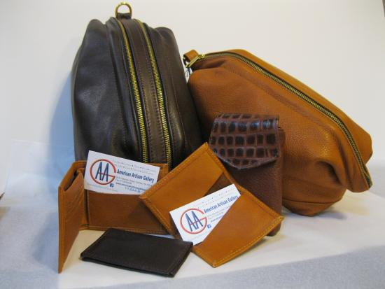 American Artisan Gallery : Functional American leather - hand made in Lancaster County, PA.