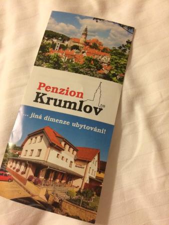 Penzion Krumlov: Проспект отеля содержит много полезной информации
