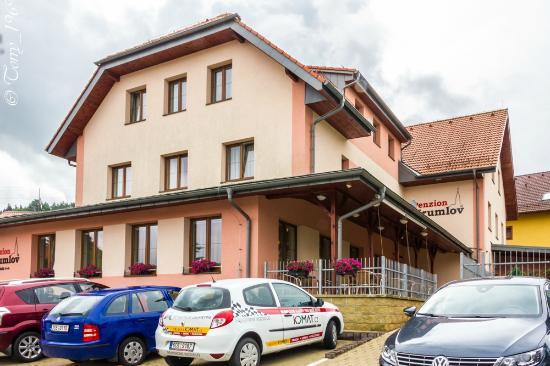 Penzion Krumlov: Отель. Терасса