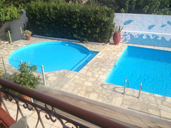 amalia hotel las dos piscinas desde la terraza de la habitacin