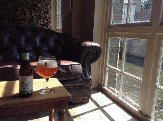 De Halve Maan Brewery: Best seat in the house.