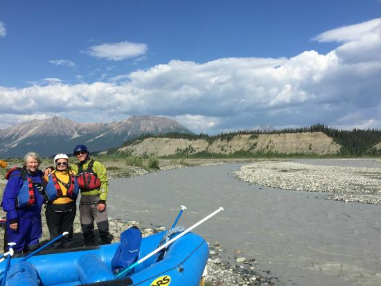 McCarthy, AK: after the completion of rafting trip