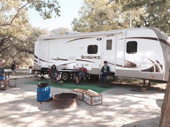 Lopez Lake Recreation Area: The trailer we rented. Loved it!