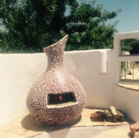 Finca Los Pinos Guesthouse: Poolside pizza oven!