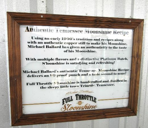 Distillery sign picture of full throttle sloonshine distillery