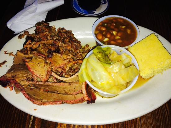Speedway, IN : Brisket, Baked Beans, and Fried Cabbage