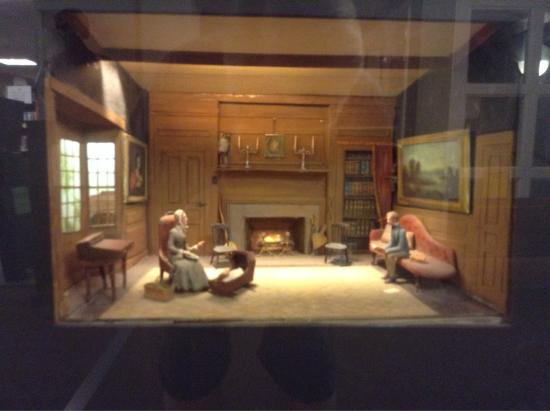 Concord Free Public Library Diorama By Louise Stimson Of The Interior Old Manse