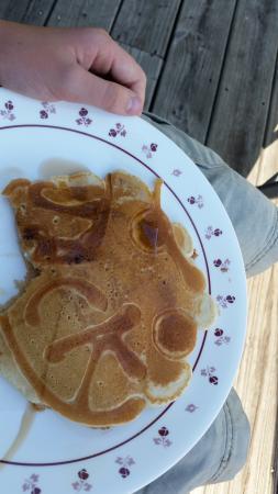 The Pirate Haus Inn: Our son Jack's pancake!