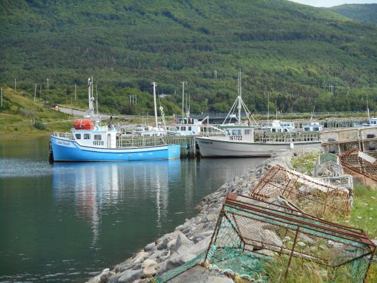 Grand Etang, Kanada: Fishery Boats Adjacent to the Centre