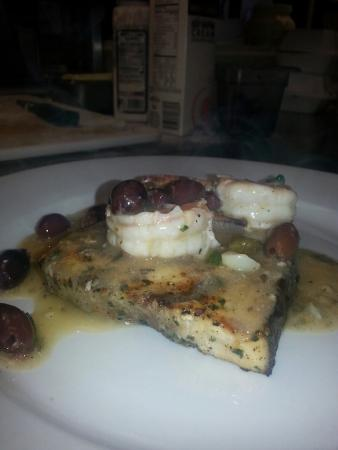Emma's Everyday Gourmet: Grilled swordfish calabrese with shrimp!