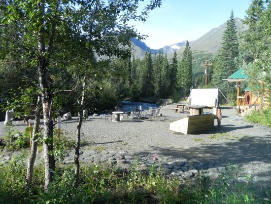 Denali Mountain Morning Hostel and Cabins : From our window looking west