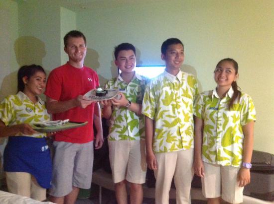 Staff bring birthday cake - Picture of EDEN Hotel Kuta Bali - Managed ...