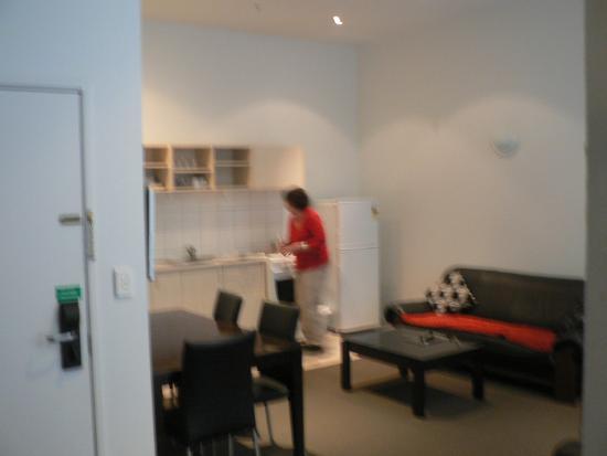 Ibis Styles Invercargill: Lounge Kitchen in ground floor room