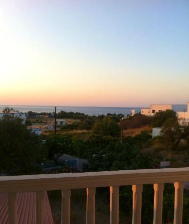 Hotel Panorama Genadi : view from balcony to the sea