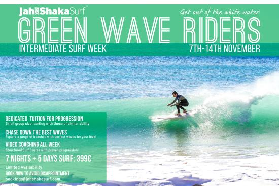Jah Shaka Surf and Kite Lodge: Green Wave Riders: Intermediate Surf Course