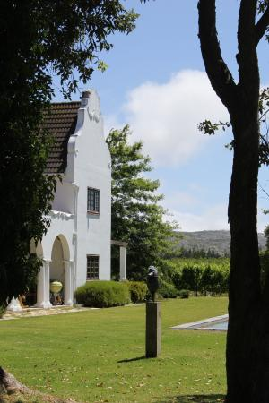 Iona Wine Farm: View of the homestead and vineyard at Iona