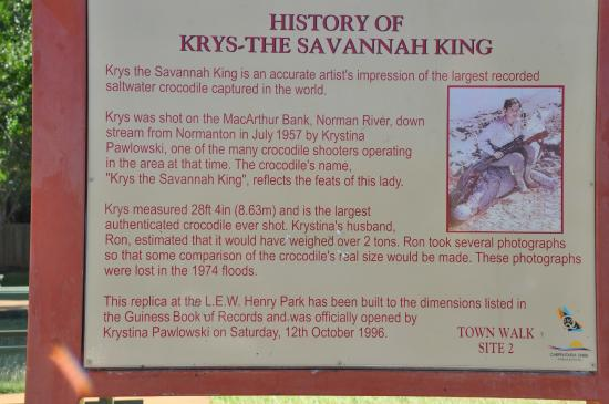 Normanton Tourist Park : written history of the above photo