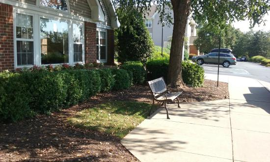 Residence Inn Charlottesville: Outside With Bench