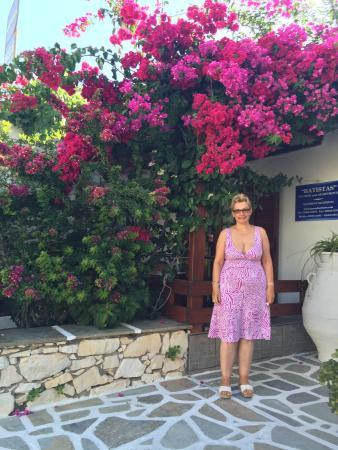 Batistas Apartments: Le meravigliose buganvillea all'entrata !!!!!