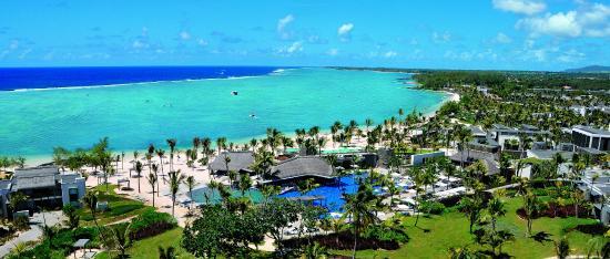 Long Beach Mauritius : Aerial view